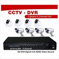 CCTV 4 Channel System H.264 Full 960H WD1 HD DVR