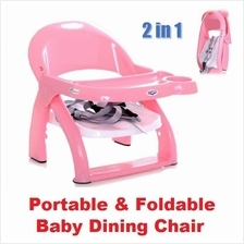 Portable Foldable Baby Dining Chair Table Seat Multi-function
