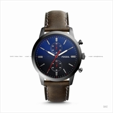 FOSSIL FS5378 Men's Townsman Chronograph Leather Strap Blue Brown