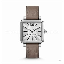 MARC BY MARC JACOBS MJ1518 Vic 3-hand Square Leather Strap Silver
