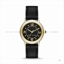 MARC BY MARC JACOBS MJ1475 Riley 3-hand Leather Strap Black Gold