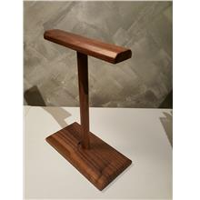 Black Walnut Twins headphone stand