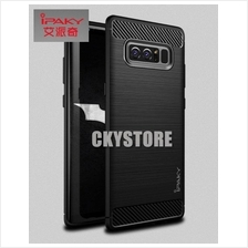 Samsung Galaxy NOTE 8 IPAKY Durable Full Protection CARBON FIBER Case