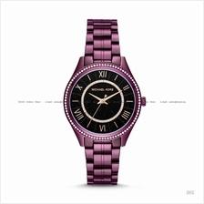 MICHAEL KORS MK3724 Lauryn 3-hand Celestial SS Bracelet Black Plum
