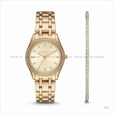 MICHAEL KORS MK3767 Bracelet Watch & Jewelry Box Set Gold