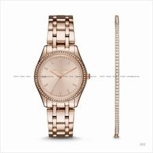 MICHAEL KORS MK3768 Bracelet Watch & Jewelry Box Set Rose Gold