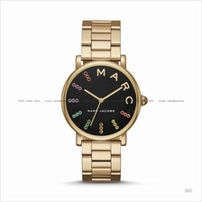 MARC BY MARC JACOBS MJ3567 Classic 3-hand Glitz SS Bracelet Black Gold