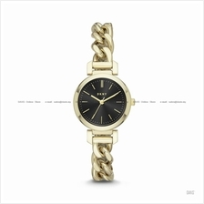DKNY NY2665 Women's Ellington 3-hand Twisted Chain SS Bracelet Gold