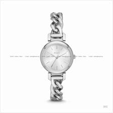 DKNY NY2664 Women's Ellington 3-hand Twisted Chain SS Bracelet Silver
