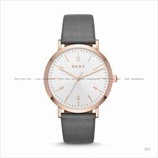 DKNY NY2652 Women's Minetta Classic 3-hand Leather Strap Grey