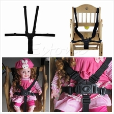 5 Point Harness Baby Chair Stroller Safety Belt