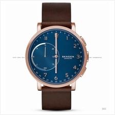 SKAGEN SKT1103 Hagen Connected Hybrid Smartwatch Leather Blue Brown