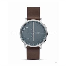 SKAGEN SKT1110 Hagen Connected Hybrid Smartwatch Leather Blue Brown