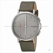 SKAGEN SKT1114 Signatur Connected Hybrid Smartwatch Leather Grey Green