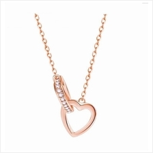 Vivere Rosse Into the Heart Necklace (Rose Gold)-92.5 Sterling Silver)