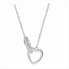Vivere Rosse Into the Heart Necklace (Silver) - 92.5 Sterling Silver)