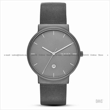 SKAGEN SKW6320 Men's Ancher Date Titanium Case Leather Strap Grey