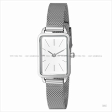 SKAGEN SKW2655 Women's Hagen Mini Rectangular Slim Mesh Bracelet White