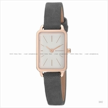 SKAGEN SKW2657 Women's Hagen Mini Rectangular Slim Leather Strap Grey