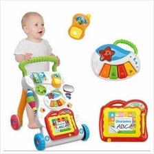4 in 1 Children Music Walker Baby Learn Walk Stand Trolley Toys