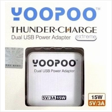 YooPoo 2 port 5V 3A iPhone iPad iPod USB Wall Charger Thunder Charge