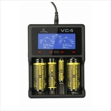 XTAR VC4 Charger for Lithium-ion and Ni-MH Batteries 18650 26650