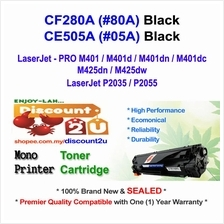 HP CF280A 80A M401 P2035 CE505A Toner Compatible * NEW SEALED *