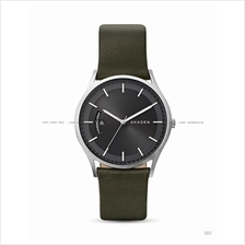 SKAGEN SKW6394 Men's Holst Day-Date Interchange Leather Strap Green