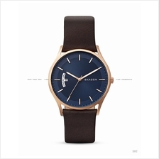 SKAGEN SKW6395 Men's Holst Day-Date Interchange Leather Strap Brown