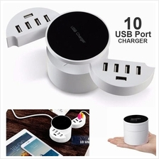 10 USB Port Fast Charger Adapter 8.2A with 3 pin Plug