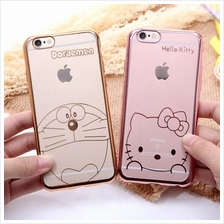 Hello Kitty Doraemon Bear Plating TPU Soft Silicone Case for iPhone 6
