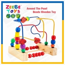 ZEEBE TOYS Around The Pearl Beads Cartoon Wooden Maze Toy