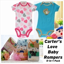 Carter''s Love Baby Romper 5-Pcs Pack Baby Bodysuit Rompers Baby Clothing (Boy/)