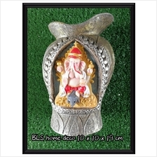 POLYRESIN INDIA GANESHA STATUE VASE 991D HOME GARDEN DECORATION GIFTS