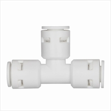 1/4 6mm Hose Tube T split 1 to 2 way quick connector 4r Water Filter purifier