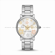 MARC BY MARC JACOBS MJ3579 Classic Floral Printed SS Bracelet Silver