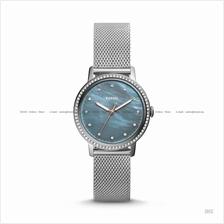 FOSSIL ES4313 Women's Neely 3-hand Glitz Mesh SS Bracelet Grey MOP