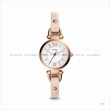 FOSSIL ES4340 Women's Georgia 3-hand Leather Strap Blush