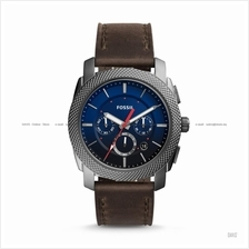 FOSSIL FS5388 Men's Machine Chronograph Leather Strap Blue Brown