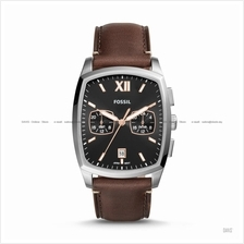 FOSSIL FS5356 Men's Knox Dual Time Leather Strap Brown
