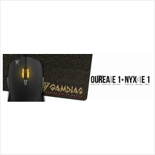 # GAMDIAS OUREA E1 - 4000 DPI Optical Mouse + NYX E1 Mouse Mat #