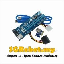 PCIE PCI-E Express 1X to 16X Mining Extender Riser Card USB3.0 V007