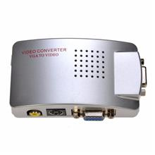 Silver VGA to AV RCA Converter with 3.5mm Audio VGA2AV/CVBS+Audio Conv