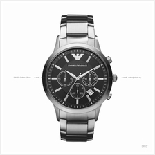 EMPORIO ARMANI AR2434 Men's Classic Chronograph SS Bracelet Black