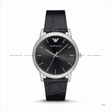 EMPORIO ARMANI AR2500 Men's 3-hand Date Leather Strap Black
