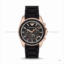 EMPORIO ARMANI AR6066 Men's Sportivo Chronograph Silicone Strap Black