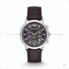 EMPORIO ARMANI AR2513 Men's Renato Chronograph Leather Strap Brown