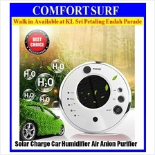 Car Solar Anion Humidifier wf Adjustable Mist Mode Air Humidifier