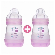 MAM Anti-Colic Twin Feeding Bottle 160ml with Teat Size 1 (B750)