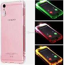 OPPO F1S/ R9S/ Neo 9 A37 A57 LED Flash Soft TPU Transparent Case
